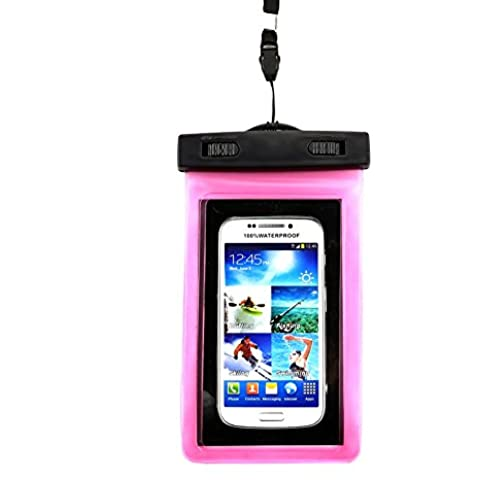 ClouWorld Universal Waterproof Screen Touch Bag Case Cover Sealed Pouch Durable Water Proof Underwater Bags Cell Phone Dry Bag Universal for iOS Android Smartphones