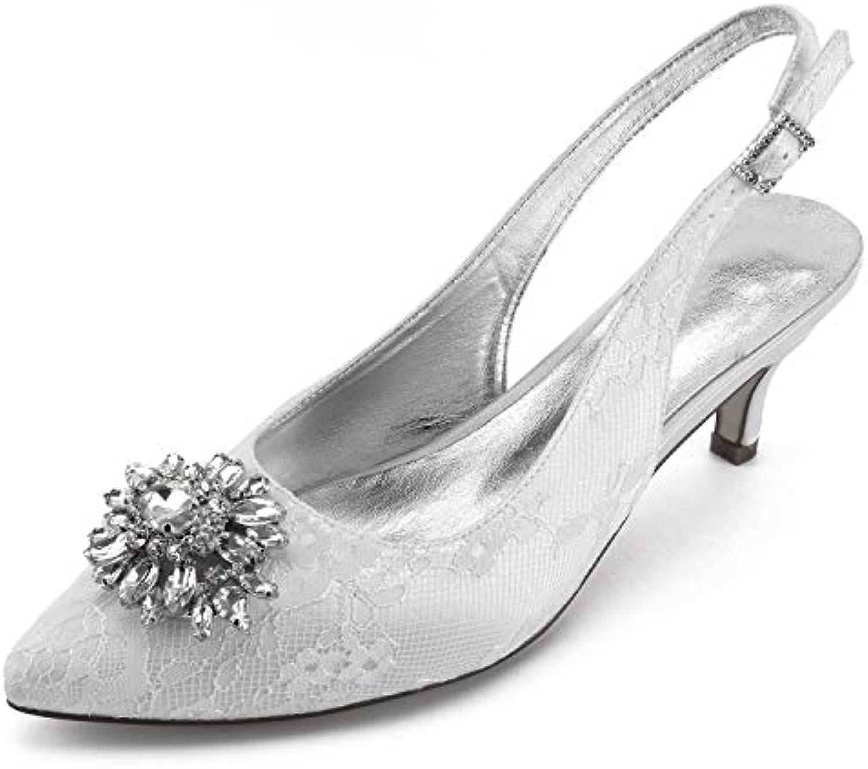 Elobaby Zapatos De Boda De Mujer TamañO Personalizado Hecho a Mano Cerrado Dedo De La Mano Puntiagudo Dama De...