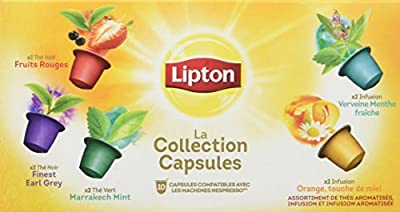 Lipton La Collection Capsule Thés Et Infusions Coffret 10 Capsules 25g (lot de 4)