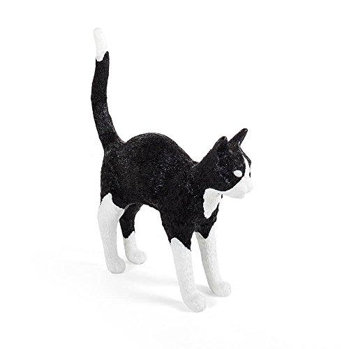 Seletti Jobby The Cat Lamp Black&White lampe de table en forme de chat noire et blanche