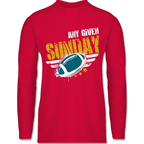 Shirtracer American Football - any Given Sunday Football Jacksonville - Herren Langarmshirt Rot