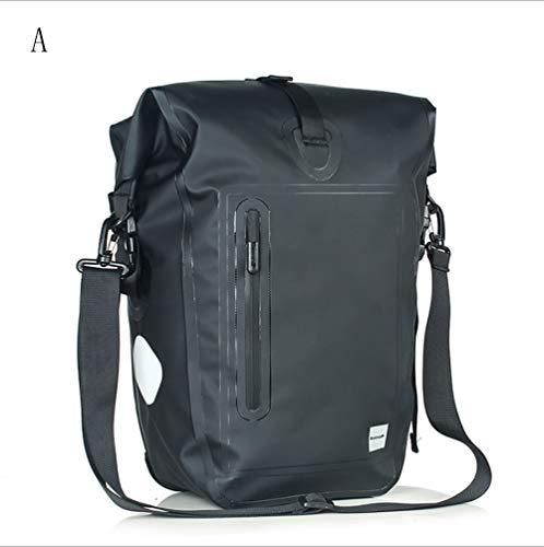 Dl-single (DL Gepäckträgereinzeltasche - PVC-Material Back Single Hinterradtasche Voll Wasserdichte Tasche,A)