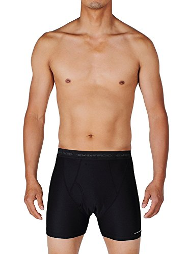 ExOfficio Men's Give-N-Go Boxer Brief (2 Pack Large, Black)