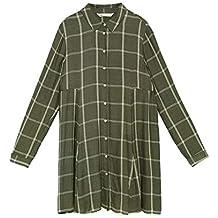 Robe chemise carreaux zara