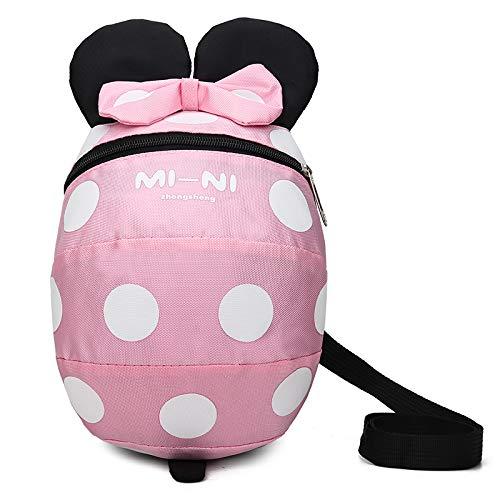 Baby Kind Sicherheitsgeschirr Rucksack Kind Kinder niedlich Cartoon Riemen Schulter Rucksack Tasche mit Zügeln Leine Rucksack (Pink, 1-3 Jahre alt) -
