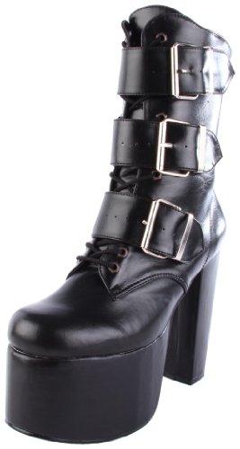 Demonia - TORMENT-703, Stivali donna, color Nero (Blk Vegan Leather), talla 41