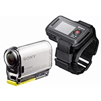 SONY HDR_AS100VR Action Camera with Live View Remote - White