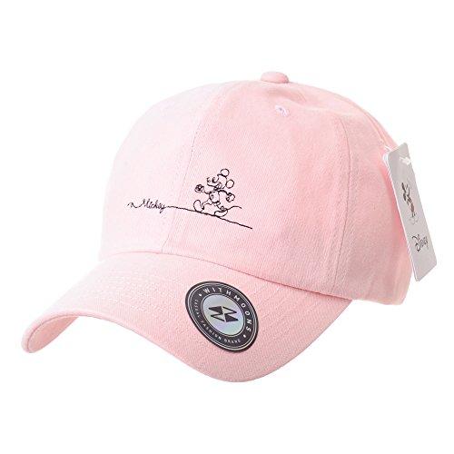 WITHMOONS Gorras de béisbol Gorra de Trucker Sombrero de Disney Mickey Mouse Baseball Cap Short Suede Cotton Hat CR1805