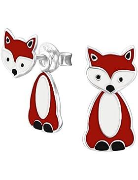 Fuchs-Ohrringe, beweglich, Sterlingsilber, 1Paar