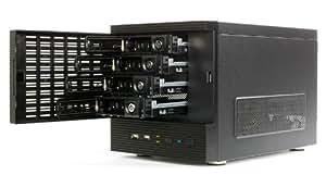 """Eolize SVD-NC11-4 Boîtier PC mini ITX 4 baies compatibles avec disques durs 3,5"""", 2 connecteurs USB 2.0 pour système NAS (Import Allemagne)"""