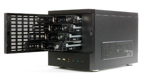 Eolize SVD-NC11-4 mini ITX PC-Gehäuse (4x 3,5 HDD, 2x USB 2.0)für NAS System