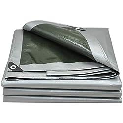 Kffc Lonas y amarres Lona Impermeable Gruesa Impermeable Protector Solar Protector Solar toldo sombrilla Exterior Lona plástica Puede ser Personalizado (Tamaño : 5 * 5m)