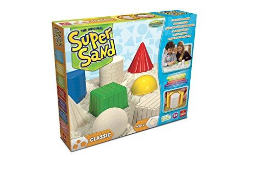 Goliath 83216 | Super-Sand-Set Classic | magischer Super Sand für Sandburgen in Deinem Kinderzimmer | kreative Sandbauwerke | bunter Spielspaß mit geometrischen Förmchen | ab 4 Jahren (Geschenke Jungs 4)