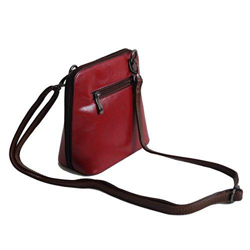 Bella Belly–Kleine molto elegante, semplice–bella borsa da donna borsa a mano borsa a tracolla borsa graziosa Clutch in diversi stili Colori–präsentiert von ZMOKA®, Rot (rosso) - 0 Rot
