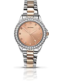 Sekonda Women's Quartz Watch with Rose Gold Dial Analogue Display and Multi-Colour Bracelet 4254.27