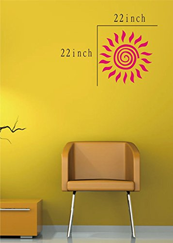 Large--Easy instant decoration wall sticker wall mural boy girl kids baby nursery room butterfly sun FL785