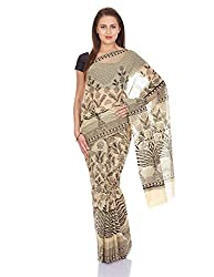 Pavechas Saree With Blouse Piece (MK2576_Beige)