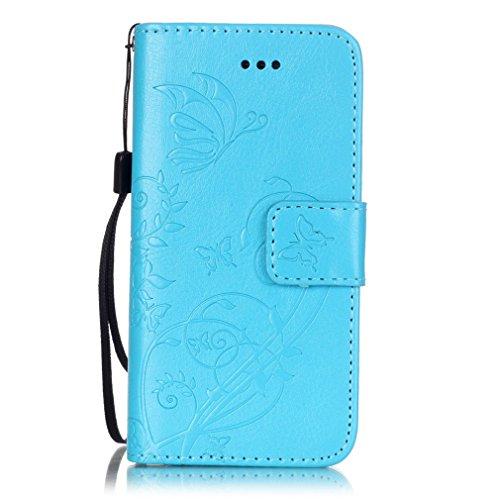 Mk Shop Limited Coque pour iPhone 5 5S,,PU Cuir Flip Magnétique Portefeuille Etui Housse de Protection Coque Étui Case Cover avec Stand Support pour Apple iPhone 5 5S, Multi-couleur 8