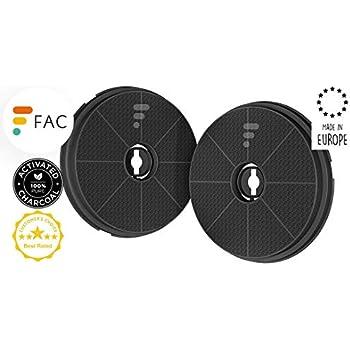 Fac Fc17 2 Filtres à Charbon Actif Pour Hotte De Cuisine Diamètre