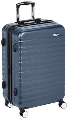 AmazonBasics - Trolley rigido Premium con rotelle pivotanti e lucchetto TSA integrato - 68 cm, Blu marino