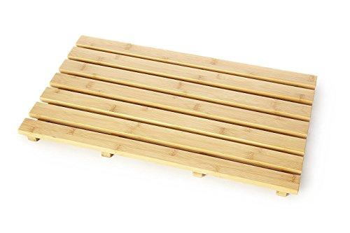 Holzrost, rechteckig, natur Holz Nonslip Bambus Badematte Dusche Duck Board Badeente Board groß Lattenrost, One size -