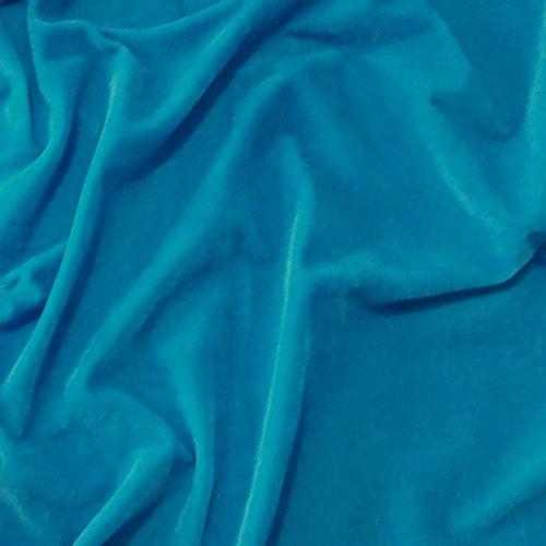 Sea Blue Velvet weiche Velours-Stoff, Kleid, Dance, Kostüm, Abendgarderobe, 150 cm breit (pro Meter) (Blue Dance Kostüm Kleid)