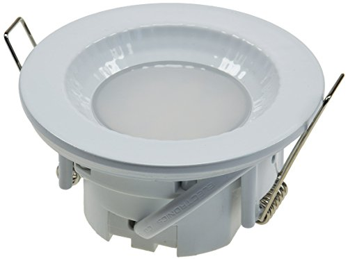 LED Einbauleuchte Einbauspot warmweiß, 85x40mm, 5W, 470lm, Gehäuse weiß, IP54, für Feuchträume geeignet -