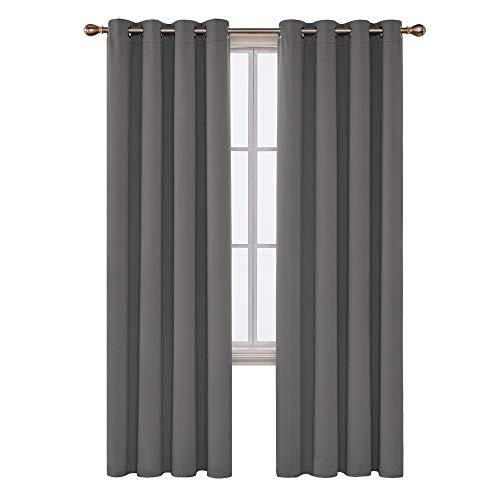 Deconovo tende da sole blackout tende moderno per tua casa 100% poliestere 117x229 cm grigio chiaro 2 pannelli