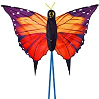 Zhuoyue Kite for Kids Single Line Butterfly Kite Easy to Fly on The Beach Park Funny Summer Toys 55x37 inch HDK-001