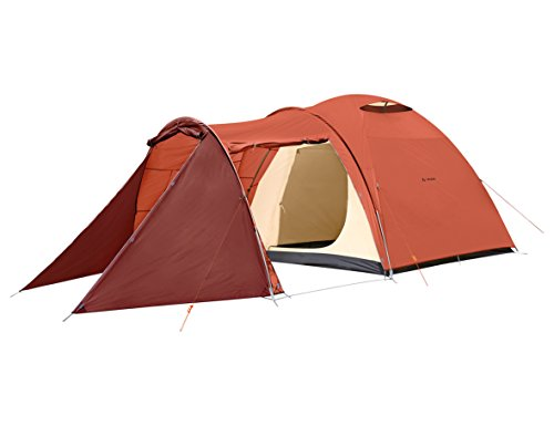 VAUDE Campo CASA XT 5P Tente Tunnel Extra Grande pour Le Camping Mixte Adulte, Terracotta, Taille...