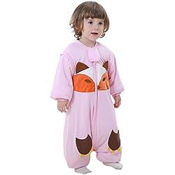 Happy Cherry - Bolsa de Dormir de Bebé de Mangas Largas Gruesa del Mameluco del Mono Saco de Dormir Niñas Niños 2 - 4 Años