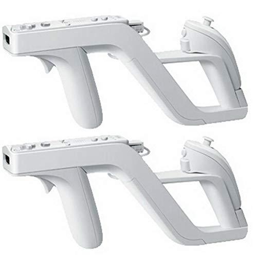 TOSSPER 2 Pz Premium Zapper Pistola per Il Gioco Nintendo Wii Remote Controller Wireless, Bianco