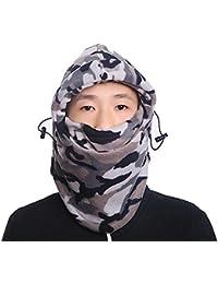 TRIXES Pasamontañas Termico Forro Polar máscara para Tener Cabeza y Cuello  más Caliente- Impresión de 0f9b7fcb329