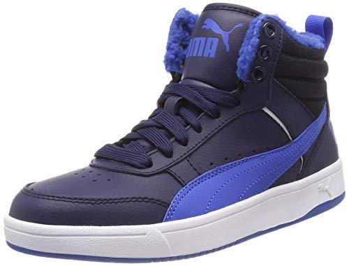 Puma Unisex-Kinder Rebound Street V2 FUR JR Hohe Sneaker, Blau (Peacoat-Strong Blue White 05), 39 EU