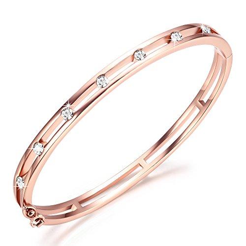 Imagen de george · smith pulseras oro rosa para mujeres pulseras infinito cristales de swarovski pulsera mujeres regalos cumpleaños ideales para mujeres mamá