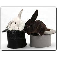 Conigli in cappello a cilindro Tappetino mouse del computer pad regalo di natale