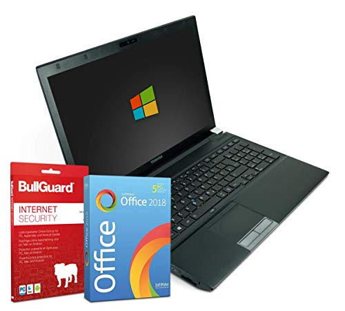 a R950 | Intel Core i5-3210M @ 2,5GHz | 8GB DDR3 RAM | 256GB SSD | DVD-Brenner | Windows 10 Pro | BullGuard IS | SoftMaker Office 2018 - Standard (Zertifiziert und Generalüberholt) ()