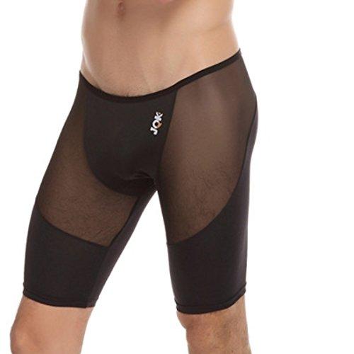 Men's Mesh Transparent Shapers Shorts Black