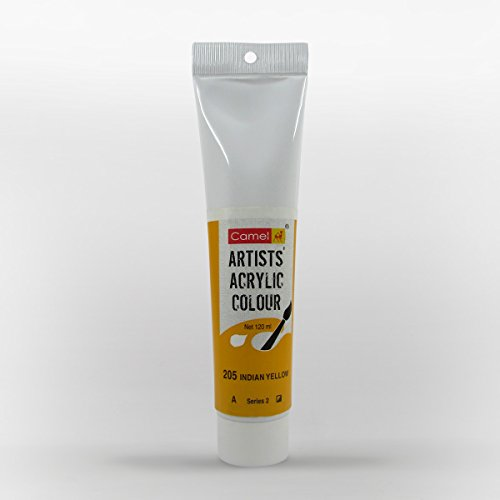 Camlin Kokuyo Artist Acrylic Colour Tubes 120ml Indian Yellow 205