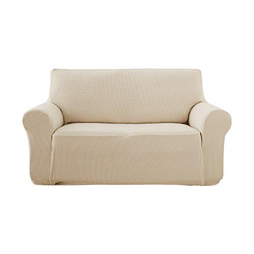 Deconovo copridivano trapuntato fodera protettiva per divano 2 posti beige