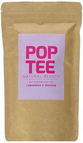 POP TEE Lemongras und Verveine Tüte, Kräutertee, Superfood, Natural Beauty, 2er Pack (2 x 60 g) - Beauty Pop