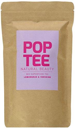 POP TEE Lemongras und Verveine Tüte, Kräutertee, Superfood, Natural Beauty, 2er Pack (2 x 60 g) -