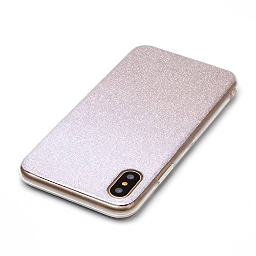 cover custodia glitter argento iphone x