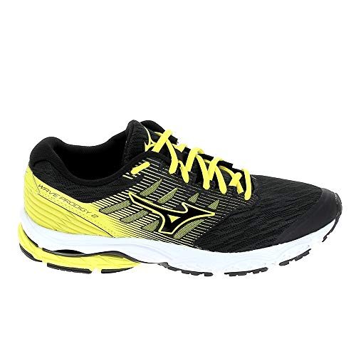 Mizuno scarpe running uomo - wave prodigy 2 (black/yellow) (41 eu)