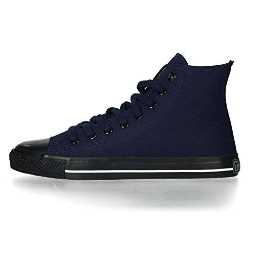 Ethletic Black Cap HiCut / High-Sneaker Collection 17 aus Bio-Baumwolle – dunkelblau / schwarz - 3
