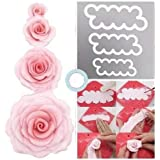RKPM HOMES Easiest Rose Ever Cutter for Cake Decorating Set of 3 Cake Decorating