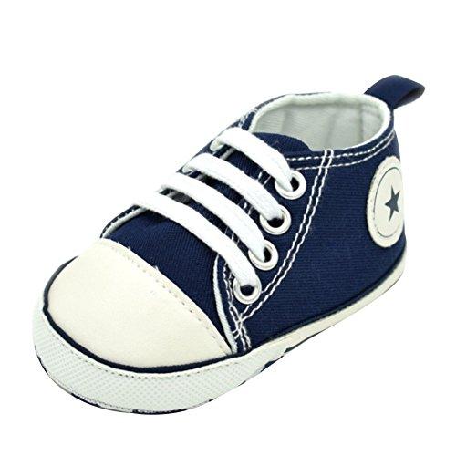 Moresave , Chaussures premiers pas pour bébé (fille) Bleu Marine