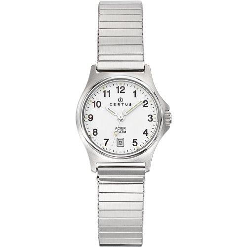 Certus  625020 - Reloj de cuarzo para mujer, con correa de metal, color plateado