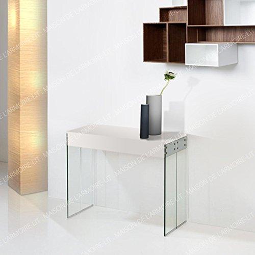 giovanni marchesi design Table Console 4 ALLONGES Laque Blanc New York