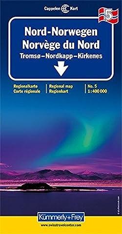 Kümmerly & Frey Karten, Nord-Norwegen: Tromso, Hammerfest (Kümmerly+Frey Reisekarten)